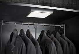 image of wall lighted closet rod