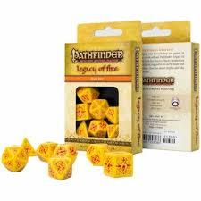 <b>Набор</b> кубиков Pathfinder, 7шт., Legacy of <b>Fire</b> | Игры оптом ...