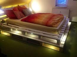 using pallets for furniture. Wood Pallet Bed With Lights Using Pallets For Furniture L