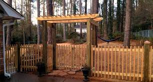 picket fence gate with arbor. Akridge Fence: Cedar Wood Fencing | Privacy Fence Yard Fence, Arbor, And Gate Picket With Arbor N
