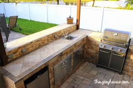 Build Your Own Outdoor Kitchen Our Diy Outdoor Kitchen This Grey House