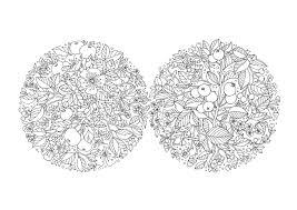 花 A4無料印刷ぬりえ 大人の塗り絵コロリアージュ図案 まとめ