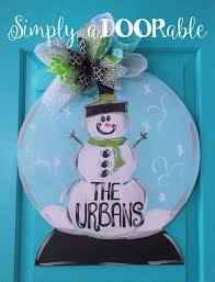 door hanger snowman door decor winter door decoration