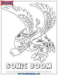 Small Picture Skylanders Spyros Adventure Air Series1 Sonic Boom Coloring Page