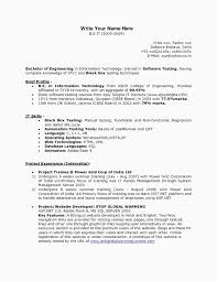 Sample Resume For Experienced Software Tester Resume For Software Testing wwwnyustrausorg Exaple Resume And 40