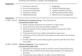Accounts Receivable Resume Examples Resume Sample For Accounts Payable