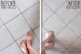 how to clean tile and grout without chemicals via makelyhome com
