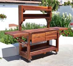 outdoor potting tables cottage style