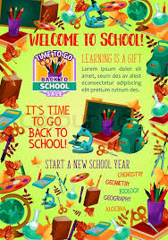 Welcome Back To School Banner With Stock Vector