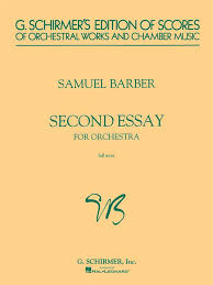 samuel barber second essay for orchestra op score presto  samuel barber second essay for orchestra