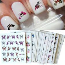 <b>30 Sheets Nail Art</b> Sticker DIY Butterfly <b>Colorful</b> Tips Nails Decal ...