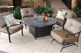 berkshirepatio elisabeth fire pit outdoor patio 4 person deep seating set with 52 fire table includes 2 spring rockers 2 club chairs burner