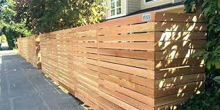 horizontal wood fence.  Fence Wood Slat Fence Horizontal  Diy Intended O