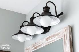 rustic farmhouse bathroom ideas lighting wood ceiling