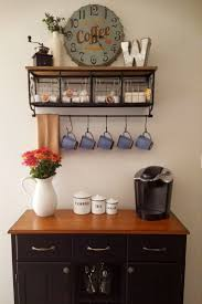 Coffee Nook - Coffee Area - Love this coffee nook idea - the wall shelf with