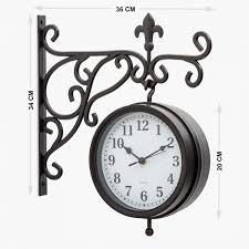 casablanca glass station wall clock