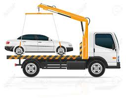 Tow Truck For Transportation Faults And Emergency Cars Vector ...