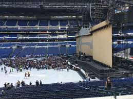 U2 Lucas Oil Seating Chart Lucas Oil Stadium Section 212 Row 2 Seat 7 Home Of