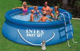intex easy set pool. Intex Pool Easy Set - Blue, Ø 366 X 91 Cm: Amazon.co.uk: Garden \u0026 Outdoors