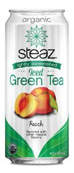 Steaz Lightly Sweetened Green Tea Steaz Organic Lightly Sweetened Iced Green Tea Peach 16 Oz Pack Of 12