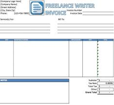 freelance excel freelance writing invoice template free freelance writer invoice