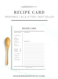printable blank recipe cards free printable blank recipe cards template 4 x 6 inch pumpkin