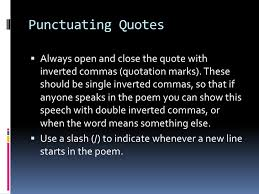 Quotation Poetry How To Quote Poetry