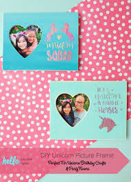 throwing a unicorn themed birthday party this diy unicorn picture frame double as a birthday