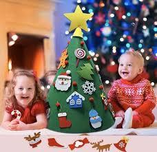 <b>OurWarm DIY</b> Toddler Felt <b>Christmas Tree</b> with Hanging Ornaments ...