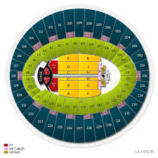 La Forum Seating Chart Concert L A Forum Tickets