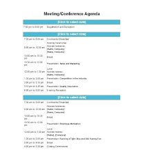 Free Meeting Agenda Template Proposal Letter Templates