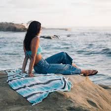 beach towels on sand. Mint Baja Towel - Sand Cloud Beach Towels On