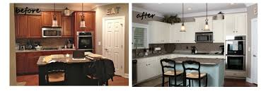 Delighful Painting Cherry Kitchen Cabinets White And Design Inspiration