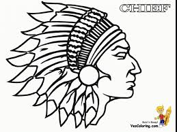 Free Native American Coloring Pages Simple Symbols America Indian
