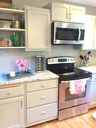 Diy Kitchen Cabinets Makeover Kitchen After Being Painted Creme Brle Step By Step Beginners