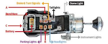 model a ford headlight switch wiring diagram 1956 chevy bel air dash and rear lights hot rod network the final fix unlike a