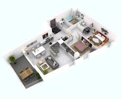More Bedroom D Floor Plans  Idolza - Studio apartment floor plans 3d