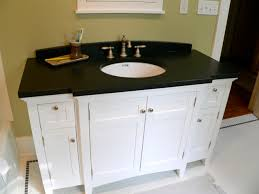best bathroom countertops. Black Bathroom Countertop And Round White Undermount Sink On Small Vanity, Nice Countertops Best N
