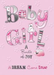 Babygirl Cards Details About Birth Of A Baby Girl Quality Embossed