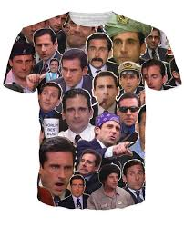 the office merchandise. the many faces of michael scott paparazzi tshirt office merchandise