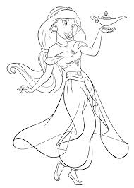 Small Picture Disney Coloring Pages Jasmine Coloring Pages