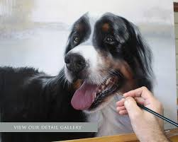 this is a beautiful painting below is a bernese mountain dog called yogi hop on over and see more photos in our detail gallery pet portraits