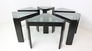 geometric stackable nesting tables by porada arredi s for