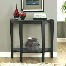 semi circle accent table half inspirational console tables wall mounted round with small metal tab semi circle accent table
