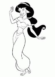 Aladdin and jasmine coloring pages. Coloring Pages Kids Jasmine Aladdin Coloring Sheet