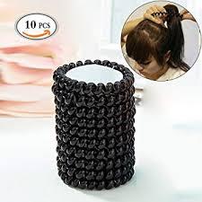 Mlmsy Elastiques Cheveux Ties 10 Pcs Plastique Noir Spirale