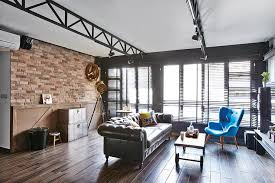 Small Picture 3 industrial chic HDB flat homes with trendy ideas Home Decor