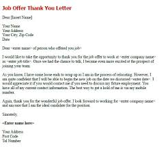 letter to accept job after job offer thank you letter accepting a sample note for accept