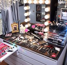 make up stand vanity idea