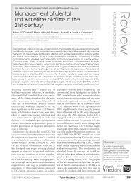 Dental Designs Of White Marsh Management Of Dental Unit Waterline Biofilms In The 21st